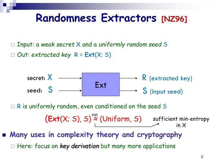 Randomness extractors nz96