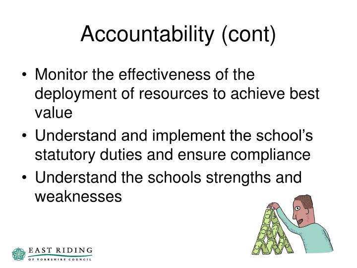 Accountability (cont)