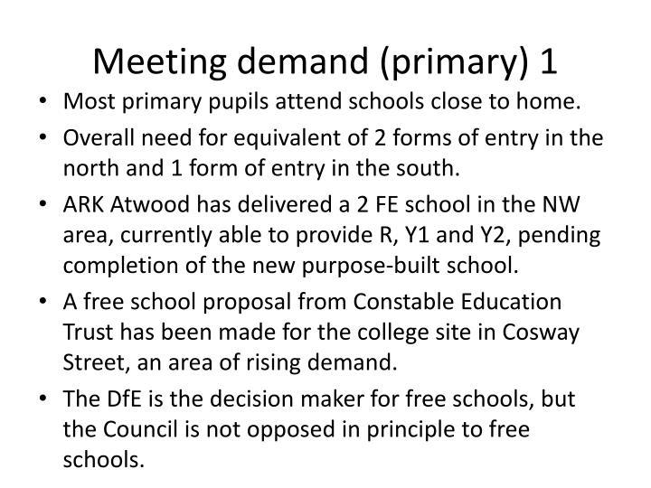 Meeting demand primary 1