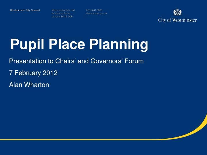 Pupil place planning