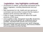 legislation key highlights continued