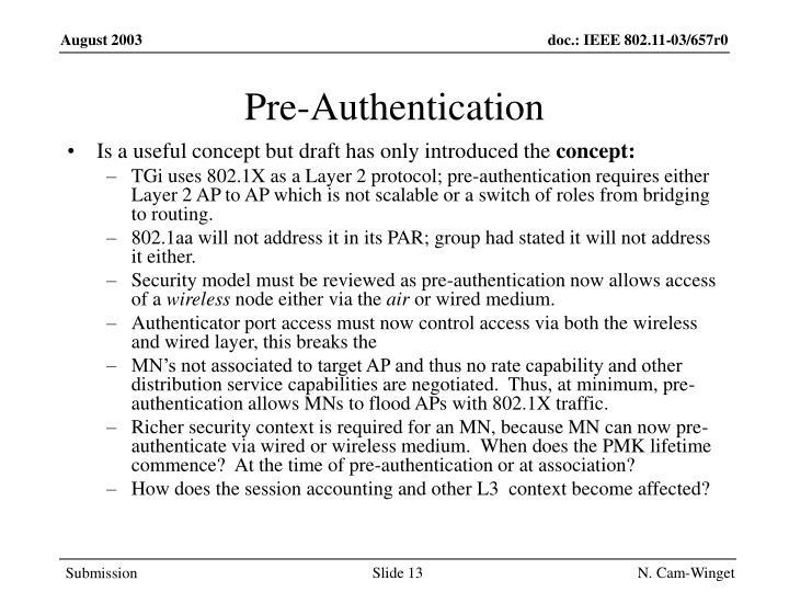 Pre-Authentication