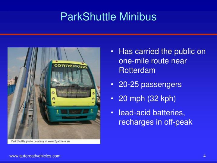 ParkShuttle Minibus