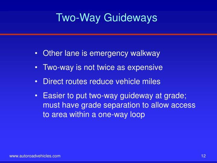 Two-Way Guideways