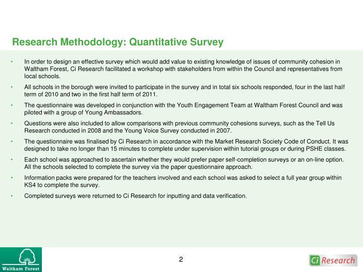 Research methodology quantitative survey