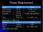 power requirement
