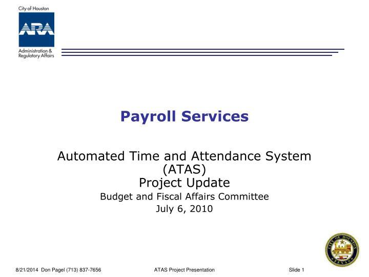 payroll services n.