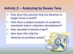 activity 2 analyzing by dewey tens