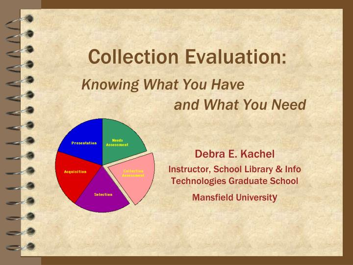 collection evaluation knowing what you have and what you need