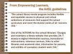 from empowering learners the aasl guidelines