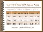 identifying specific collection areas