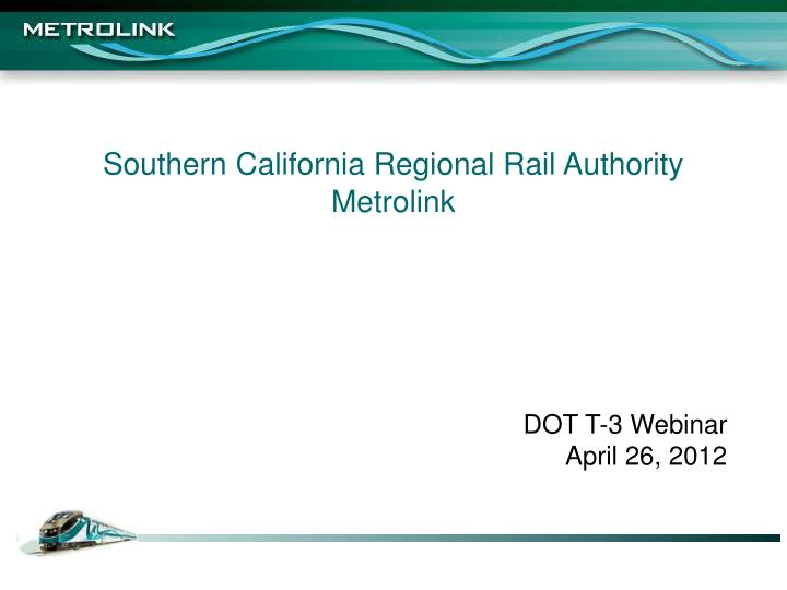 southern california regional rail authority metrolink
