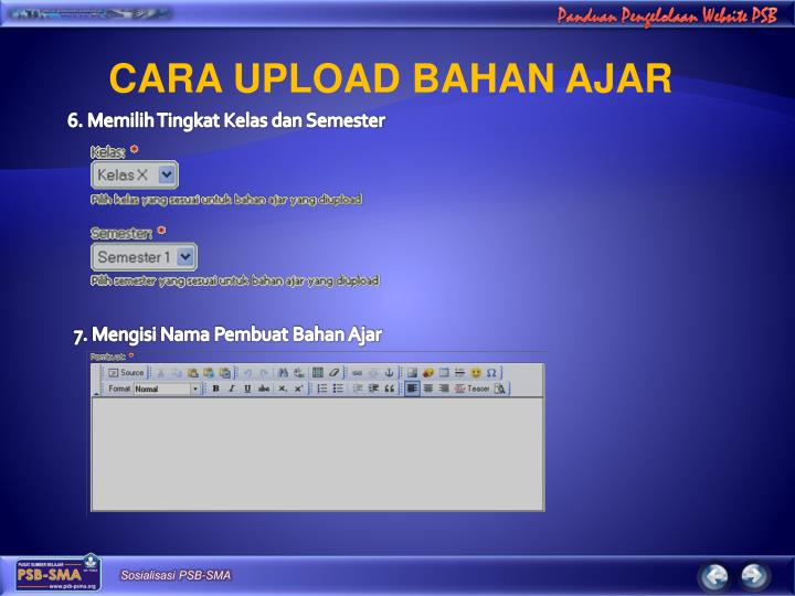 CARA UPLOAD BAHAN AJAR