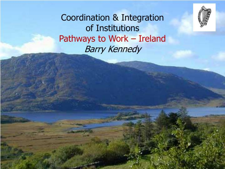Coordination integration of institutions pathways to work ireland barry kennedy