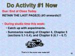 do activity 1 now