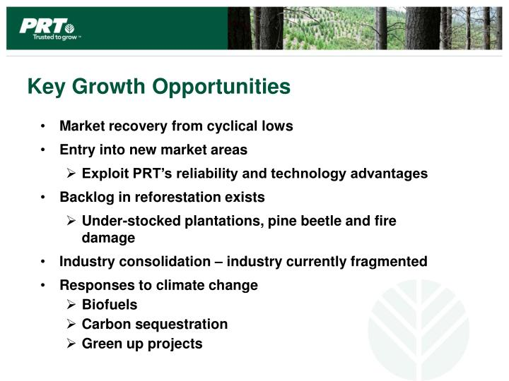 Key Growth Opportunities