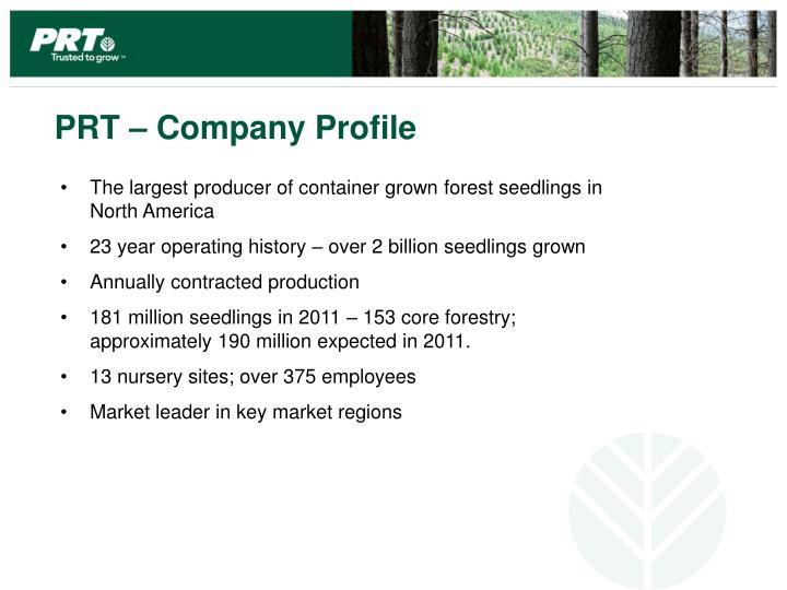 PRT – Company Profile