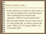 porter jack cont