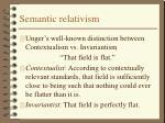 semantic relativism