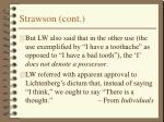 strawson cont