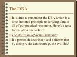 the dba