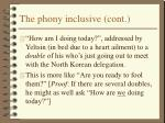the phony inclusive cont