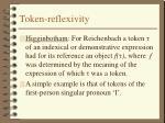 token reflexivity