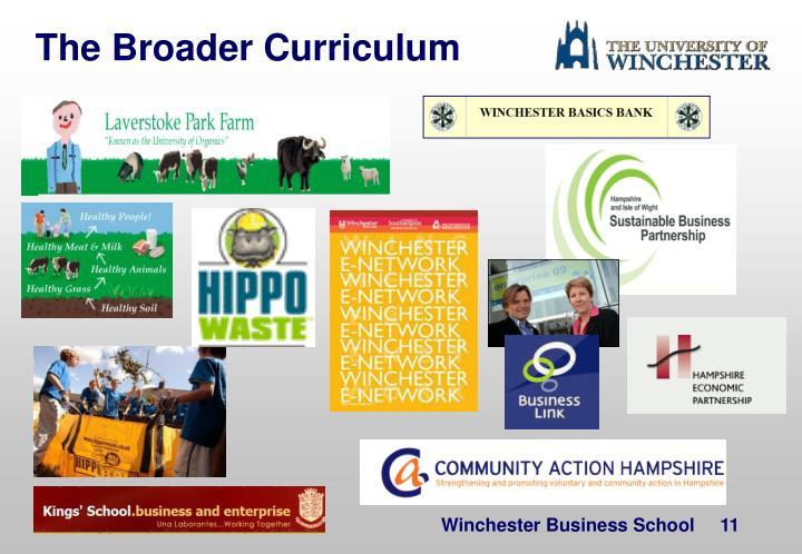 The Broader Curriculum