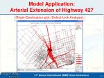 model application arterial extension of highway 427