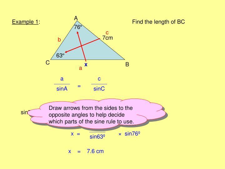 The sine rule