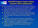 nachri pediatric patient safety indicator psi collaborative