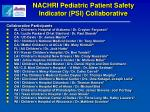 nachri pediatric patient safety indicator psi collaborative1