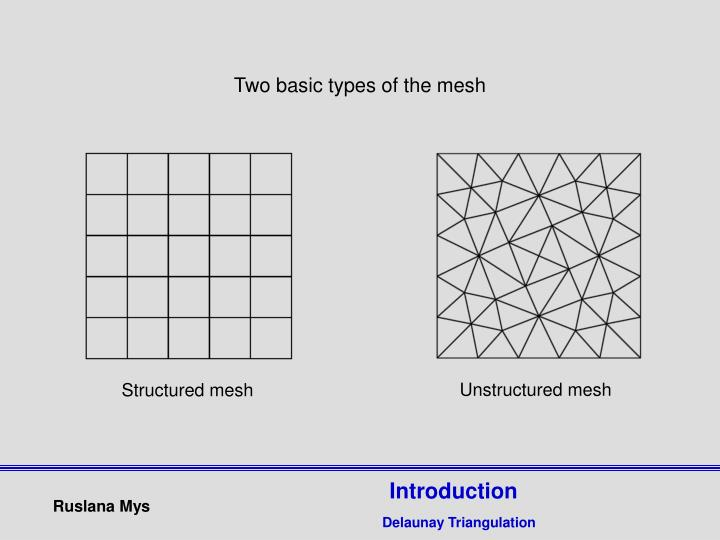 Two basic types of the mesh
