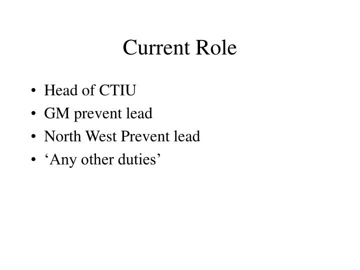 Current role