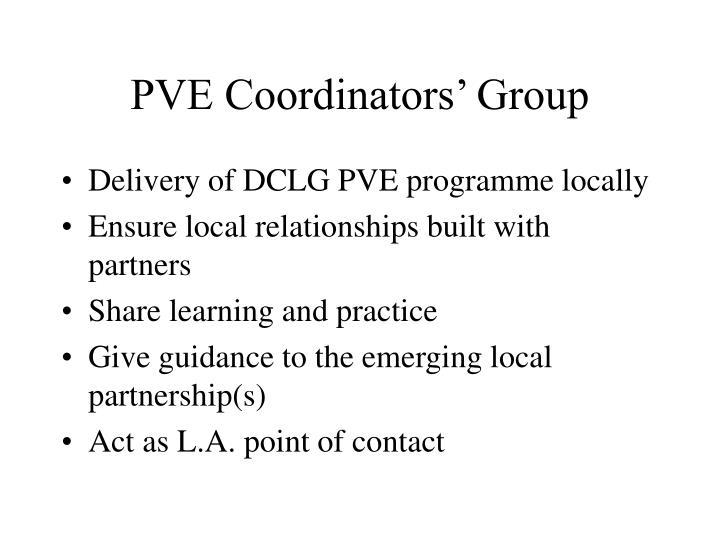 PVE Coordinators' Group