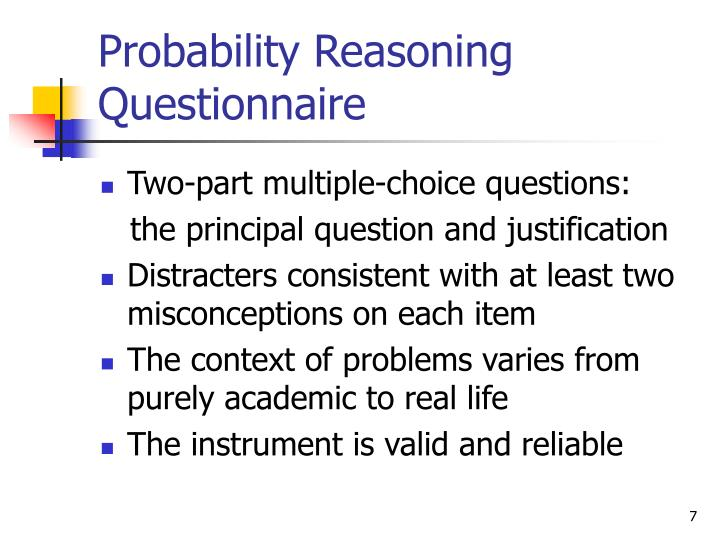Probability Reasoning Questionnaire