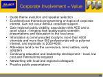 corporate involvement value