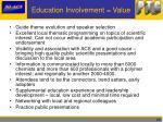 education involvement value