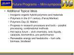 future programs mini symposia1