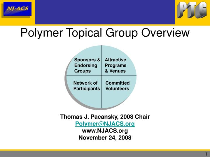 polymer topical group overview n.