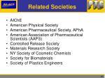 related societies