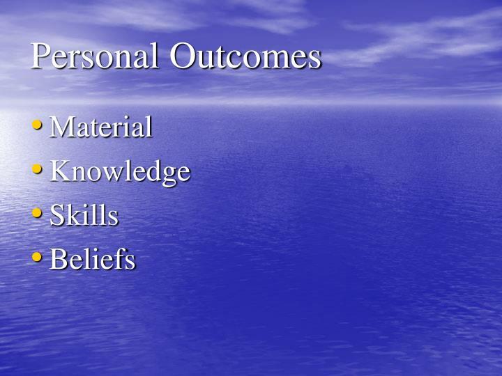 Personal Outcomes