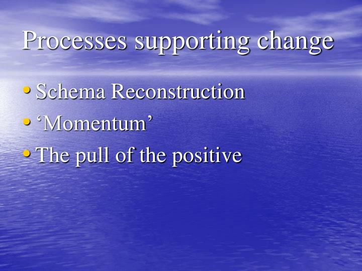 Processes supporting change