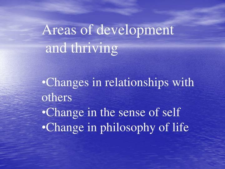 Areas of development