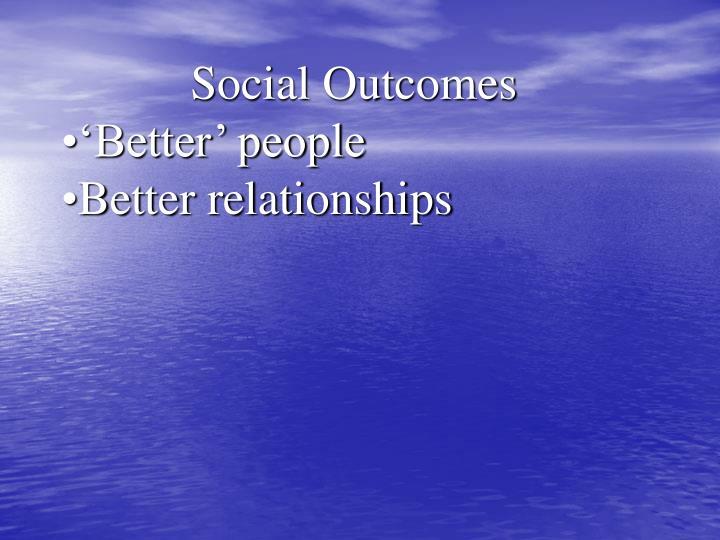 Social Outcomes