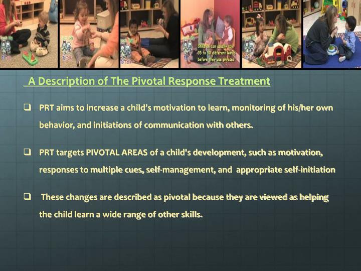 A Description of The Pivotal Response Treatment