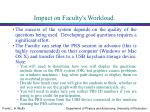 impact on faculty s workload