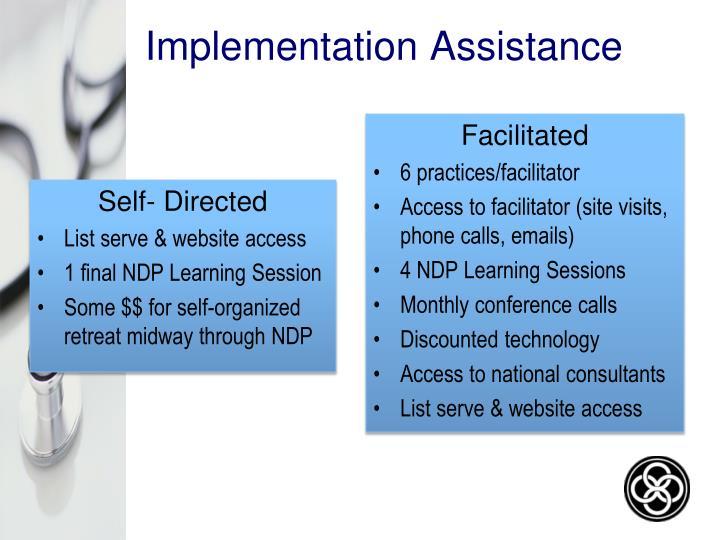 Implementation Assistance