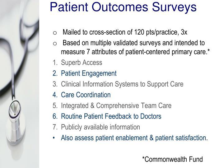 Patient Outcomes Surveys