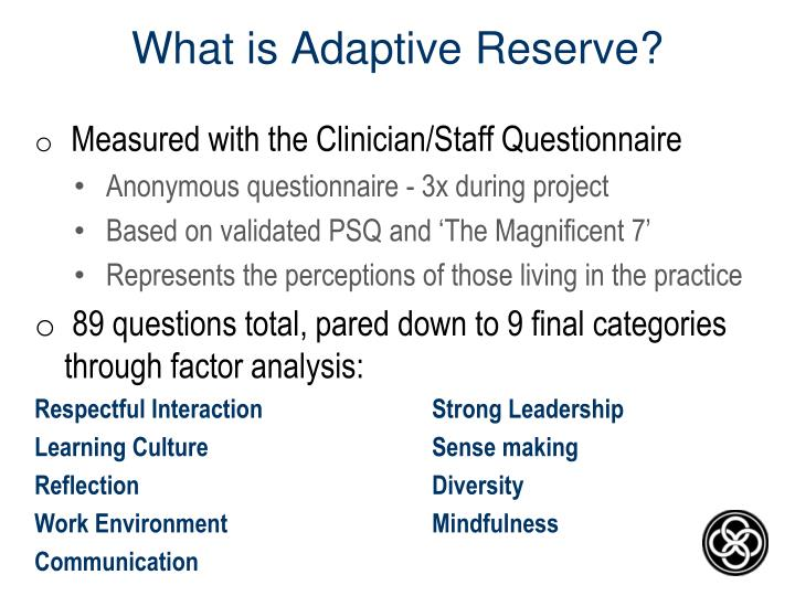 What is Adaptive Reserve?